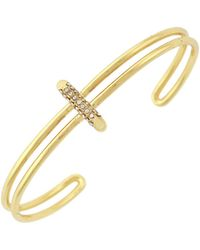 Vince Camuto - Delicate Lines Pave Sliced Bar Bracelet - Lyst