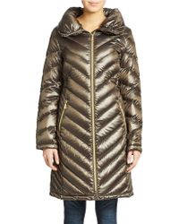 Michael Kors Packable Quilted Walker Coat - Lyst