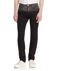 Helmut Lang Two-Tone Slim-Fit Jeans black - Lyst