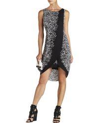 BCBGMAXAZRIA Audra Printed Asymmetrical Wrap Dress - Lyst