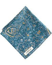 J.Crew - The Hillside Cottonlinen Pocket Square in Victorian Paisley - Lyst