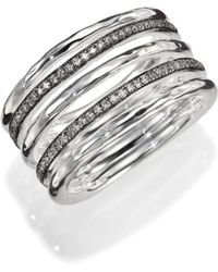 Ippolita Stella Diamond & Sterling Silver Five-Row Solid Stack Ring - Lyst