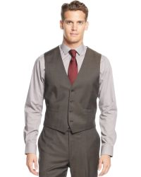 Calvin Klein X Brown Sharskin Vested Slimfit Suit - Lyst