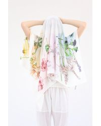 Swash London - Silk Scarf Rainbow Flora Chroma - Lyst