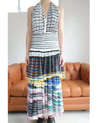 Anntian - Circle Layer Dress Circle Stripe Dark - Lyst