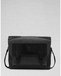 Belstaff - Citymaster Messenger Bag In Black Textured Leather - Lyst