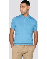 Ben Sherman - Short Sleeve Knitted Polo Shirt - Lyst