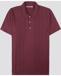 Ben Sherman - Textured Mod Stripe Ss Knitted Polo - Lyst