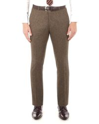 Ben Sherman - Antique Gold British Tweed Camden Trouser - Lyst
