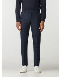 Ben Sherman - British Black Blue Tweed Camden Trouser - Lyst