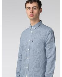 Ben Sherman - Long Sleeve Mini House Gingham Shirt - Lyst