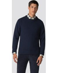 Ben Sherman - Textured Crew Neck Jumper - Lyst