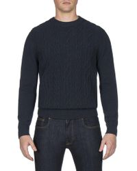 Ben Sherman - Cable Front Crew Neck - Lyst