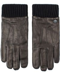 Ben Sherman - Leather Glove With Knit Rib - Lyst