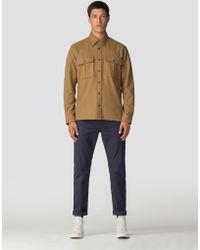 Ben Sherman - Long Sleeve Wool Utility Shirt - Lyst