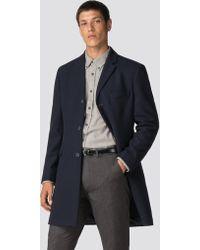Ben Sherman - Navy Tailored Coat - Lyst