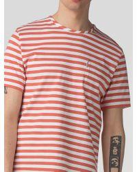 Ben Sherman | Twisted Yarn Stripe T-shirt | Lyst