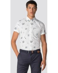 Ben Sherman - Keith Moon Short Sleeve Drum Print Shirt - Lyst