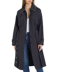 Badgley Mischka - Brooke Cotton Utility Trench Coat - Lyst
