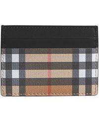 Burberry - Men's Sandon Check Card Case - Lyst