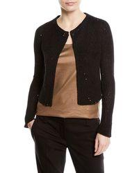 Brunello Cucinelli - Paillette Knit One-button Sweater - Lyst