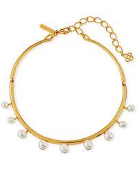 Oscar de la Renta - Floating Pearly Crystal Choker Necklace - Lyst