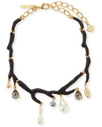 Oscar de la Renta - Painted Branch Necklace - Lyst