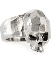 Emanuele Bicocchi - Men's Hammered Skull Ring - Lyst