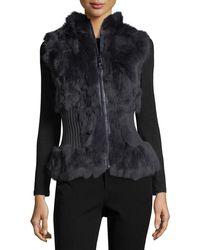 Belle Fare - Rabbit Fur Vest - Lyst