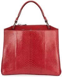 VBH - Seven 34 Python Scarlet Tote Bag - Lyst