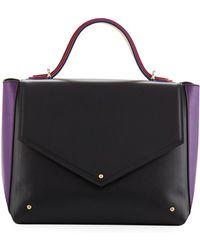 Sara Battaglia - Colorblock Leather School Bag - Lyst