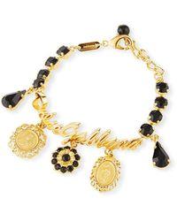 Dolce & Gabbana Crazy For Sicily Charm Bracelet - Black