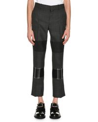 Alexander McQueen - Mixed-plaid Cropped Trousers - Lyst