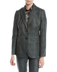 Kiton - Two-button Plaid Cashmere-blend Jacket - Lyst