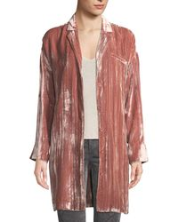 J Brand - Regan Velvet Long-sleeve Duster Jacket - Lyst