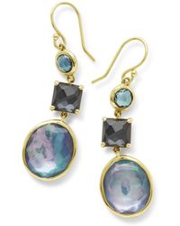 Ippolita - 18k Rock Candy 3-stone Drop Earrings In Midnight Rain - Lyst