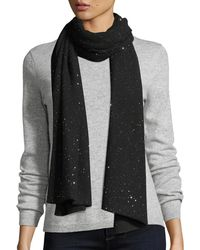 Sofia Cashmere - Reversible Sequin Shawl - Lyst