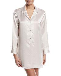 Natori - Edo Long-sleeve Silk Sleepshirt - Lyst