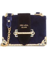 a9e3f794e8a3 Lyst - Prada Cahier Bag in Black