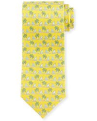 Ferragamo - Sailboat & Palm Tree-Print Tie - Lyst
