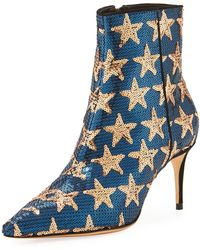 Schutz - Star Sequined Point-toe Boot - Lyst