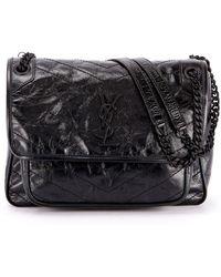 48eac16382d Saint Laurent Kate Monogram Ysl Medium Chain Tassel Shoulder Bag in ...