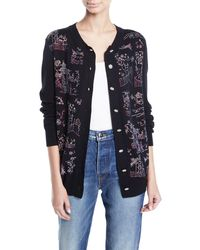 Libertine - Chinoiserie Crystal Embellished Cashmere Cardigan - Lyst