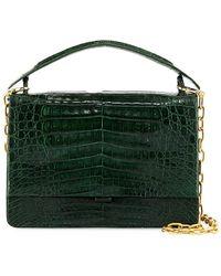 Nancy Gonzalez - Crocodile Top-handle Bag W/chain Strap - Lyst