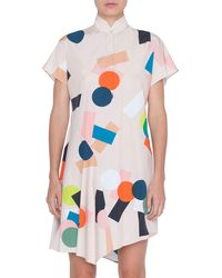 Lyst - French Connection Dress Memphis Spray in Green 7b7cae5b3