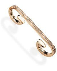 Repossi - Pavé Diamond Staple Earring In 18k Rose Gold - Lyst