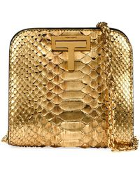 Tom Ford | Cosmo Python Small T Lock Shoulder Bag | Lyst