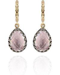Larkspur & Hawk - Lady Jane Small Pear Drop Huggie Earrings - Lyst