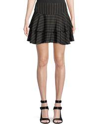 Alice + Olivia - Paloma Pinstripe Ruffle Skirt - Lyst