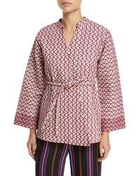 Figue - Gemma Embroidered Wrap Jacket - Lyst
